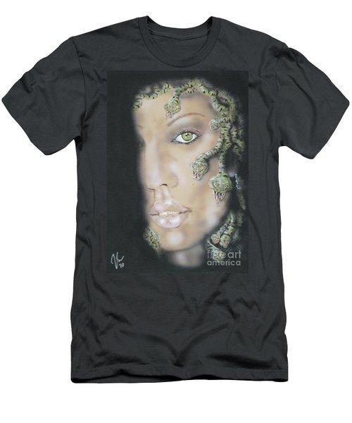 1st Medusa Men's T-Shirt (Slim Fit) by John Sodja