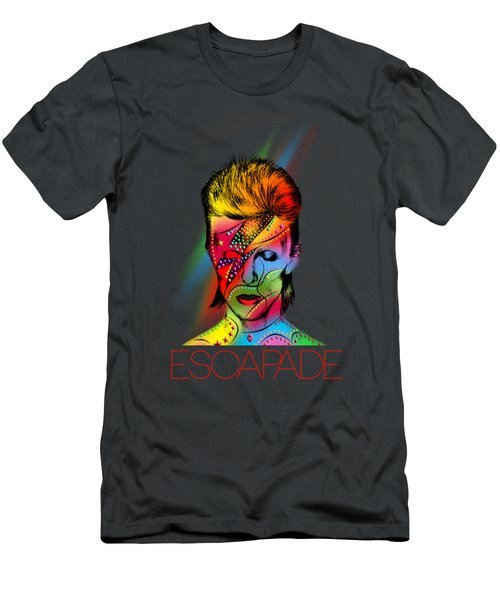 David Bowie Men's T-Shirt (Slim Fit) by Mark Ashkenazi