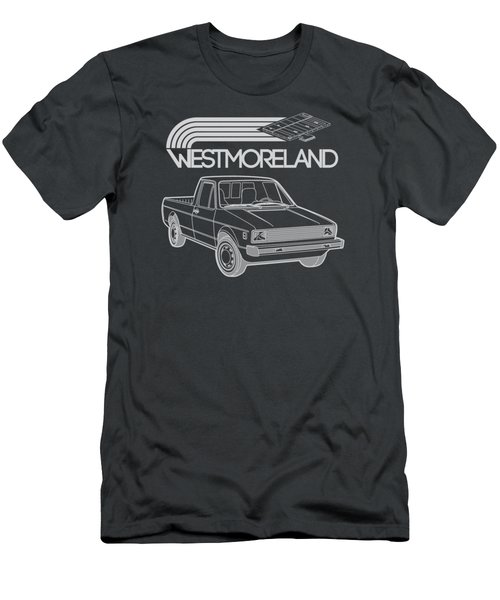 Vw Rabbit Pickup - Westmoreland Theme - Black Men's T-Shirt (Slim Fit) by Ed Jackson