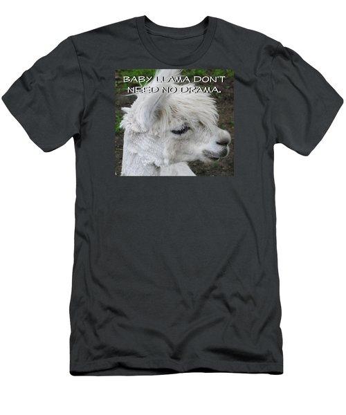 Baby Llama Men's T-Shirt (Slim Fit) by Ellen Henneke