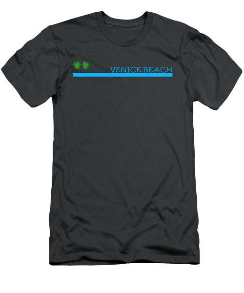 Venice Beach Men's T-Shirt (Slim Fit) by Brian Edward