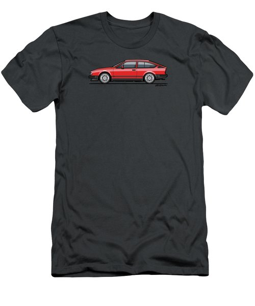Alfa Romeo Gtv6 Red Men's T-Shirt (Slim Fit) by Monkey Crisis On Mars