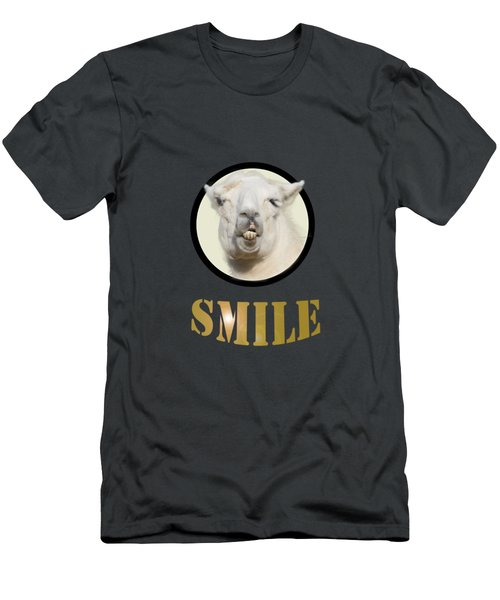 Alpaca Smile  Men's T-Shirt (Slim Fit) by Rob Hawkins