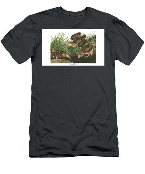 American Woodcock Men's T-Shirt (Slim Fit) by MotionAge Designs