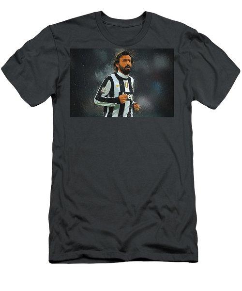 Andrea Pirlo Men's T-Shirt (Slim Fit) by Semih Yurdabak
