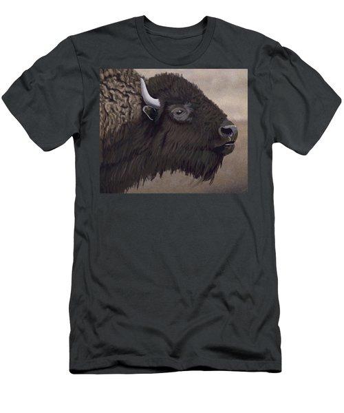 Bison Men's T-Shirt (Slim Fit) by Jacqueline Barden