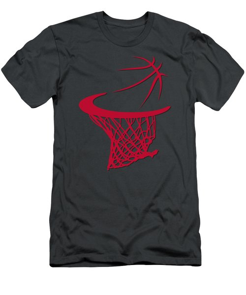 Bulls Basketball Hoop Men's T-Shirt (Slim Fit) by Joe Hamilton