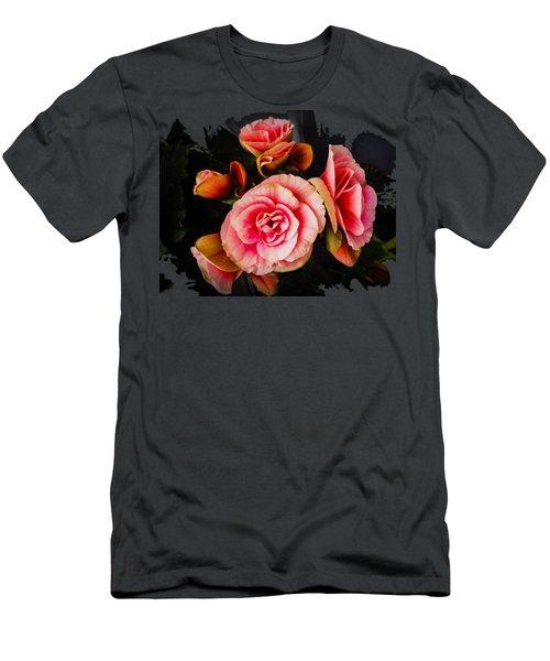 Bygone Begonias Men's T-Shirt (Slim Fit) by Jennifer Kohler