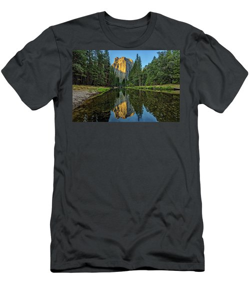 Cathedral Rocks Morning Men's T-Shirt (Slim Fit) by Peter Tellone