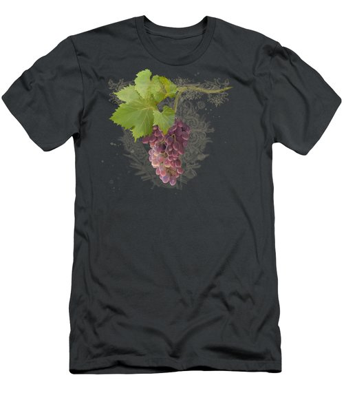Chateau Pinot Noir Vineyards - Vintage Style Men's T-Shirt (Slim Fit) by Audrey Jeanne Roberts
