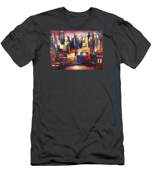Chicago City View Men's T-Shirt (Slim Fit) by Kathleen Patrick