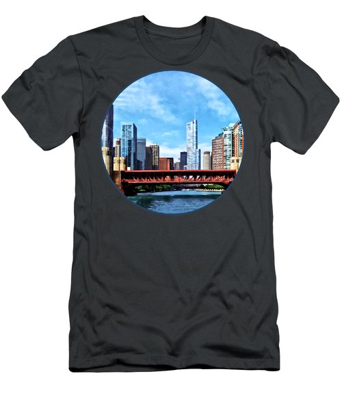 Chicago Il - Lake Shore Drive Bridge Men's T-Shirt (Slim Fit) by Susan Savad
