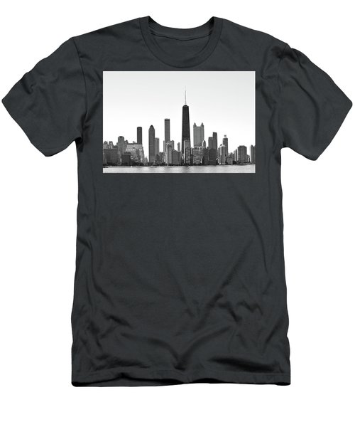 Chicago Skyline No. 1-1 Men's T-Shirt (Slim Fit) by Sandy Taylor