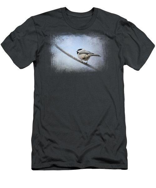 Chickadee In The Snow Men's T-Shirt (Slim Fit) by Jai Johnson