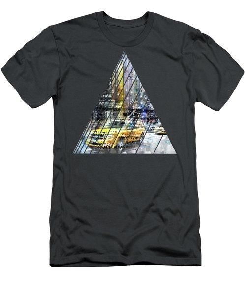 City-art Nyc Collage Men's T-Shirt (Slim Fit) by Melanie Viola