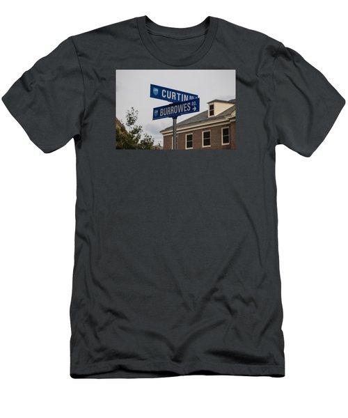 Curtin And Burrowes Penn State  Men's T-Shirt (Slim Fit) by John McGraw