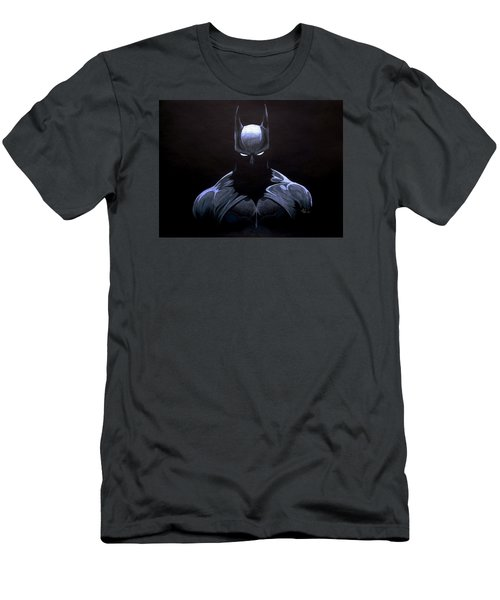 Dark Knight Men's T-Shirt (Slim Fit) by Marcus Quinn