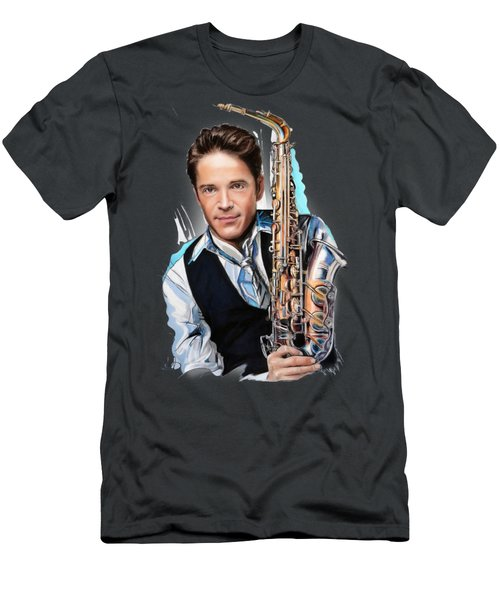 Dave Koz Men's T-Shirt (Slim Fit) by Melanie D