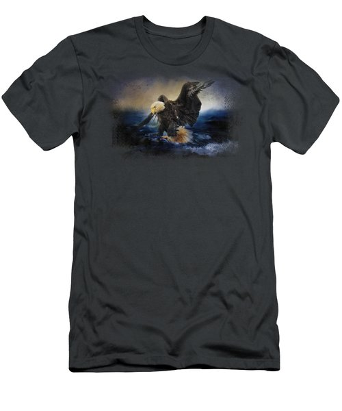 Deep Sea Fishing Men's T-Shirt (Slim Fit) by Jai Johnson
