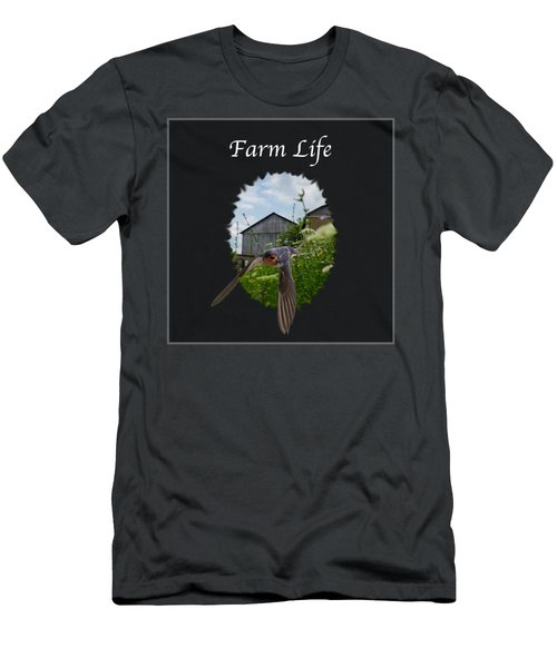 Farm Life Men's T-Shirt (Slim Fit) by Jan M Holden