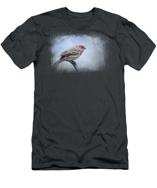 Finch In The Snow Men's T-Shirt (Slim Fit) by Jai Johnson