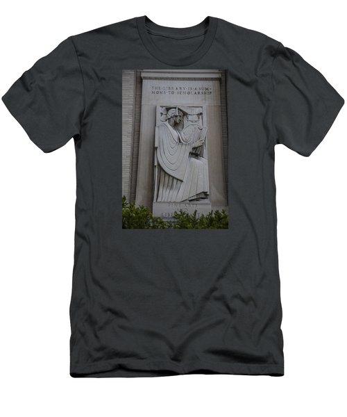 Fine Art Library Penn State  Men's T-Shirt (Slim Fit) by John McGraw