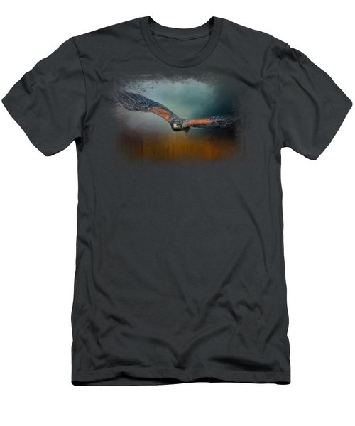 Flight Of The Harris Hawk Men's T-Shirt (Slim Fit) by Jai Johnson
