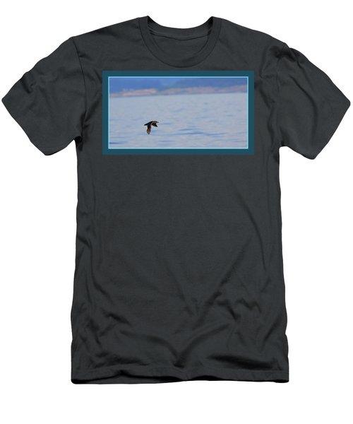 Flying Rhino Men's T-Shirt (Slim Fit) by BYETPhotography