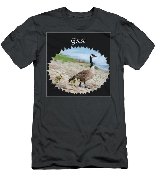 Geese In The Clouds Men's T-Shirt (Slim Fit) by Jan M Holden