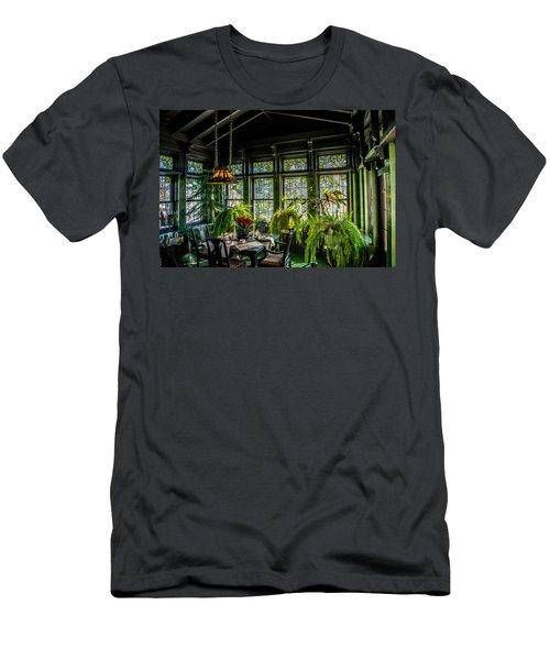 Glensheen Mansion Breakfast Room Men's T-Shirt (Slim Fit) by Paul Freidlund