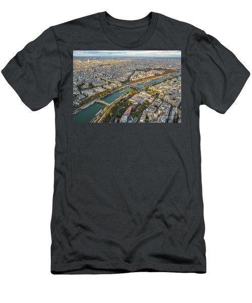 Golden Light Along The Seine Men's T-Shirt (Slim Fit) by Mike Reid