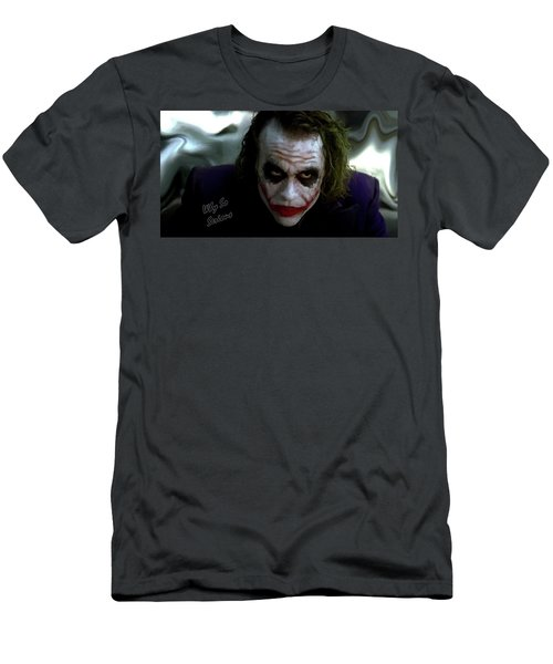 Heath Ledger Joker Why So Serious Men's T-Shirt (Slim Fit) by David Dehner