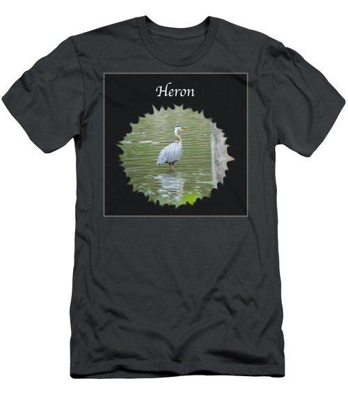 Heron Men's T-Shirt (Slim Fit) by Jan M Holden