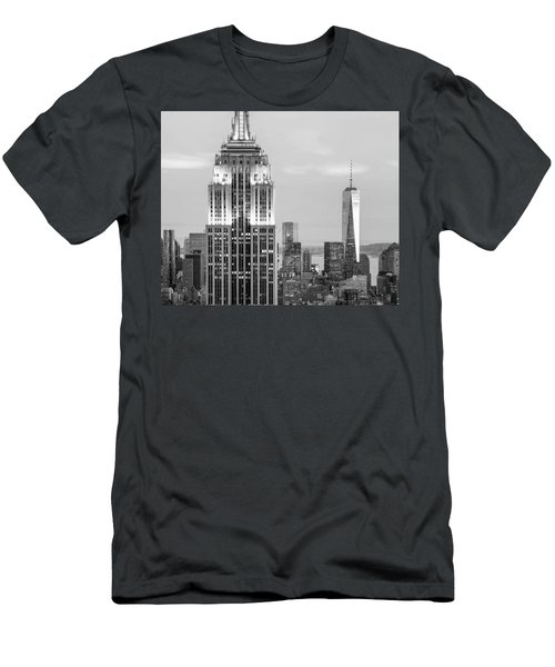 Iconic Skyscrapers Men's T-Shirt (Slim Fit) by Az Jackson