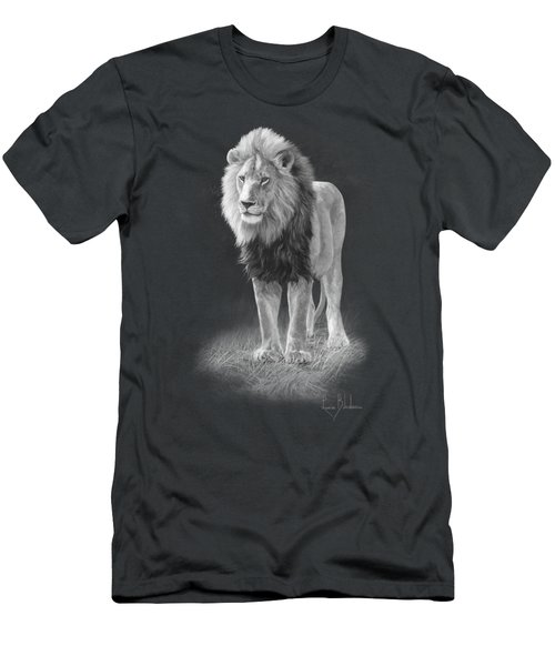 In His Prime - Black And White Men's T-Shirt (Slim Fit) by Lucie Bilodeau