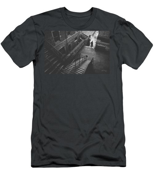 In Pursuit Of The Devil On The Stairs Men's T-Shirt (Slim Fit) by Joseph Westrupp