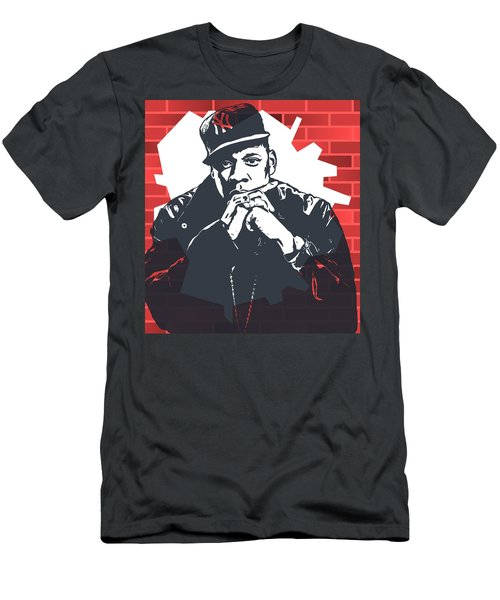 Jay Z Graffiti Tribute Men's T-Shirt (Slim Fit) by Dan Sproul