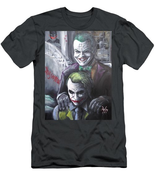 Jokery In Wayne Manor Men's T-Shirt (Slim Fit) by Tyler Haddox