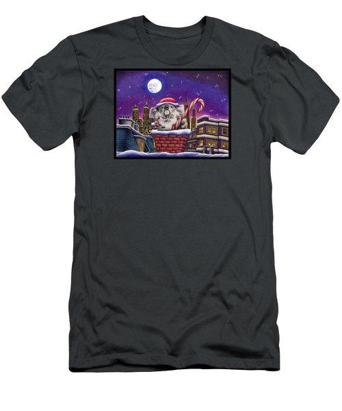 Koala In Chimney Men's T-Shirt (Slim Fit) by Remrov