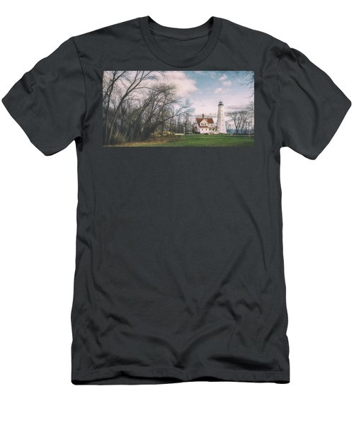 Late Afternoon At The Lighthouse Men's T-Shirt (Slim Fit) by Scott Norris