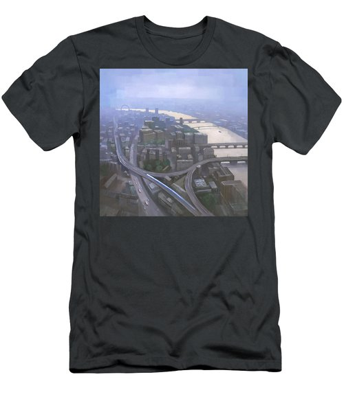 London, Looking West From The Shard Men's T-Shirt (Slim Fit) by Steve Mitchell