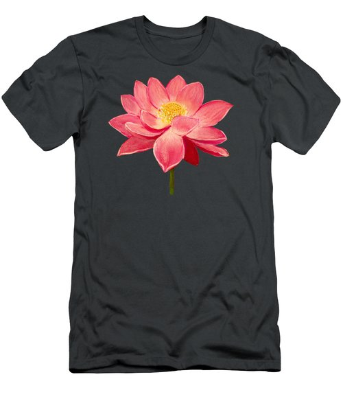 Lotus Flower Men's T-Shirt (Slim Fit) by Anastasiya Malakhova