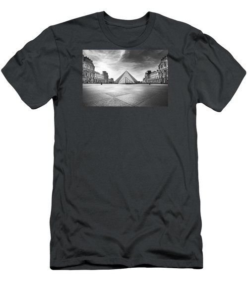 Louvre Bw Men's T-Shirt (Slim Fit) by Ivan Vukelic