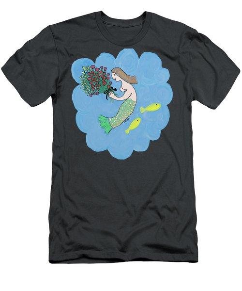 Mermaid Men's T-Shirt (Slim Fit) by Priscilla Wolfe