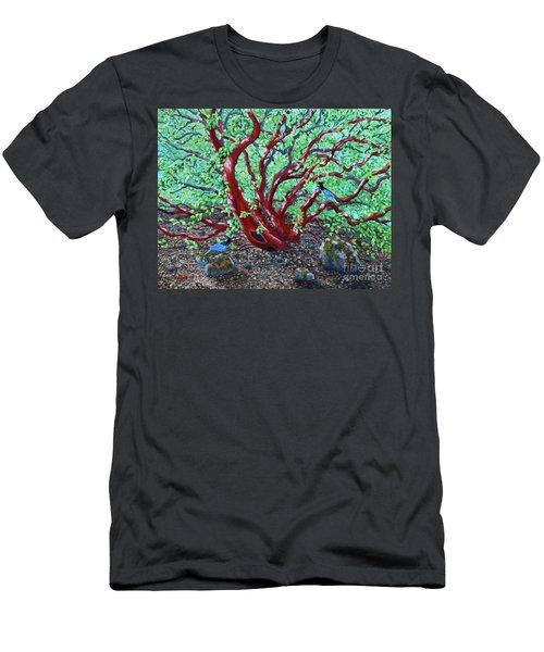 Morning Manzanita Men's T-Shirt (Slim Fit) by Laura Iverson