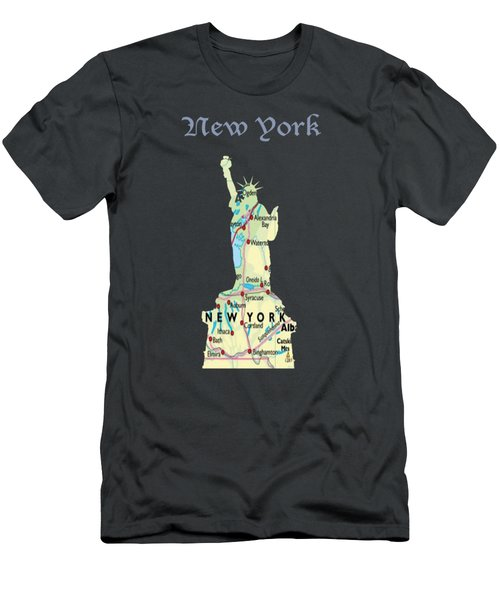 New York Men's T-Shirt (Slim Fit) by Art Spectrum