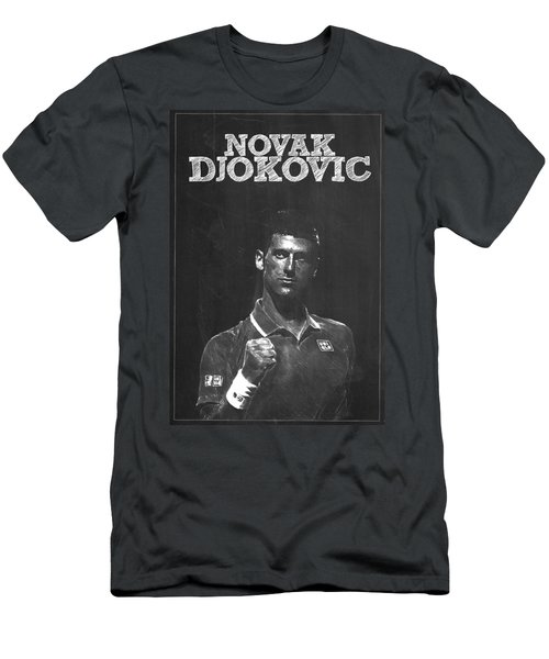 Novak Djokovic Men's T-Shirt (Slim Fit) by Semih Yurdabak