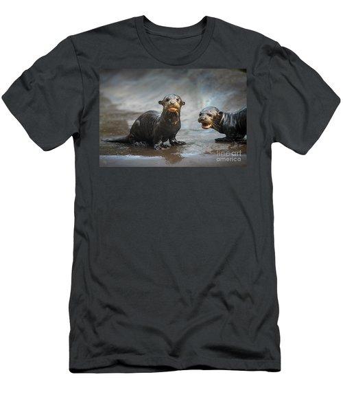Otter Pup Pair Men's T-Shirt (Slim Fit) by Jamie Pham