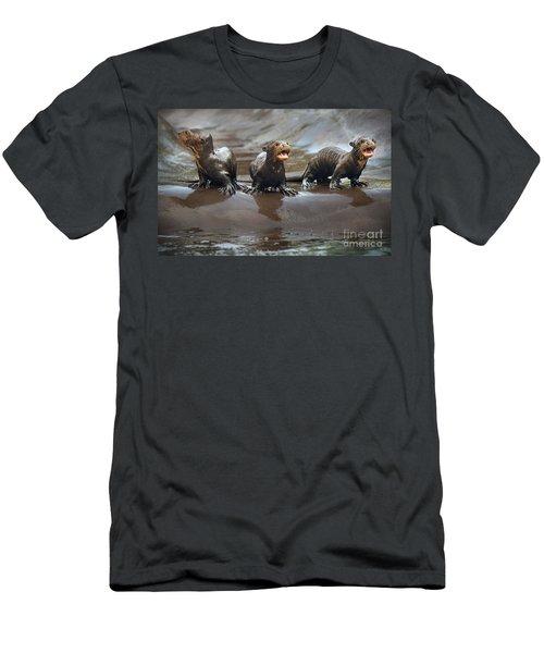 Otter Pup Triplets Men's T-Shirt (Slim Fit) by Jamie Pham