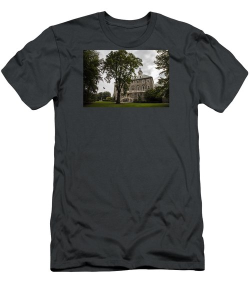 Penn State Old Main And Tree Men's T-Shirt (Slim Fit) by John McGraw